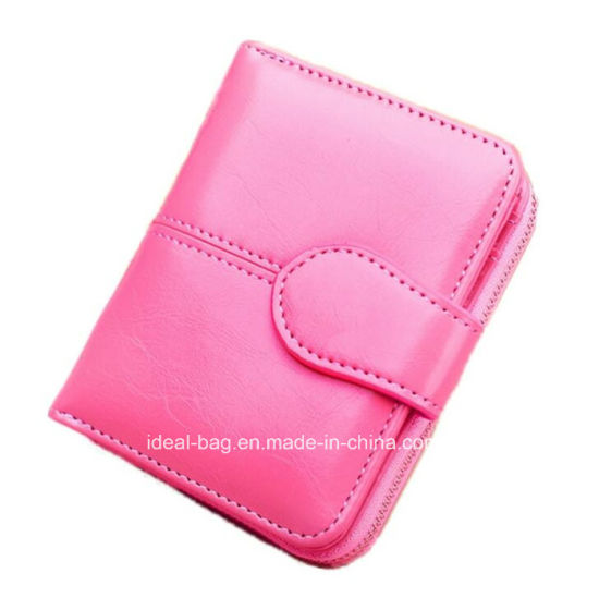 Custom Woman Wraxy PU Leather Pocket Card Purse Wallet, Fashion Travel Lady Designer Coin Wallet pictures & photos