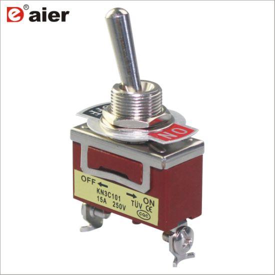China 2 Pin on off 15A Kn3c Single Pole Toggle Switch - China Single ...