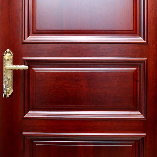 China Modern Simple Exterior Timbermdf With Veneer Solid Wood Door