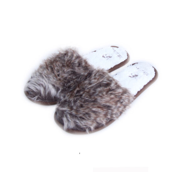 """""""Le Lana"""" Hotel Export to French Long Plush New Style Custome Women Slippers for EVA&TPR"""