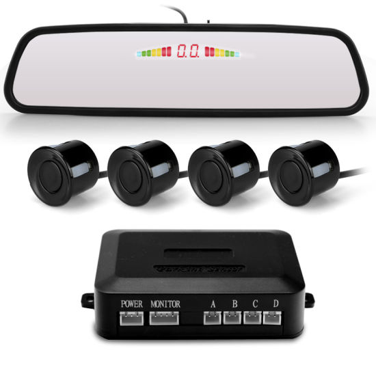 Digital LED Mirror Display Car Reversing Aid Parking Sensor System pictures & photos