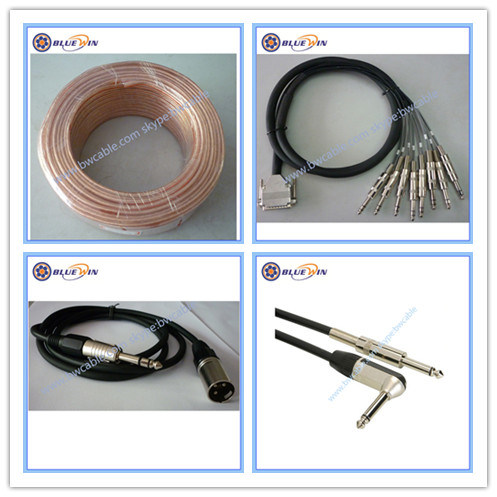Speaker Cable Bulk Guitar Cable Microphone Cable Instrument Audio XLR Cable DMX Cable Transparent Electric Wire Guitar Patch Cable 3 5 Pin Neutrik D-SUB 512