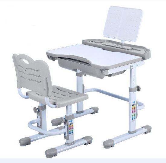 Height-Adjustable Children Desk and Chair Set Student Study Table School Desk