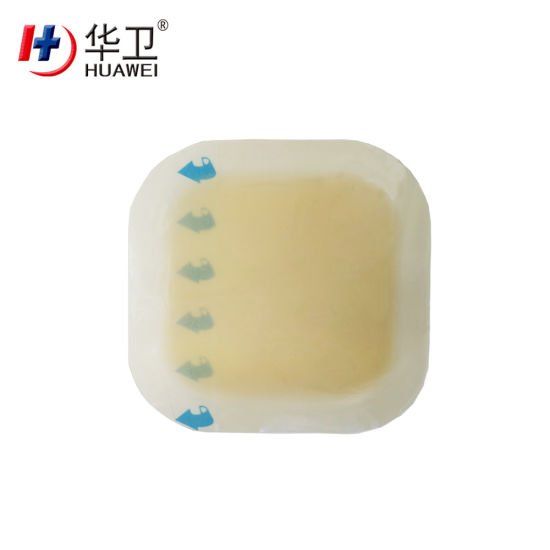 Hydrocolloid Wound Dressing with Thin Border for Burn Exudative Wounds China Factory OEM