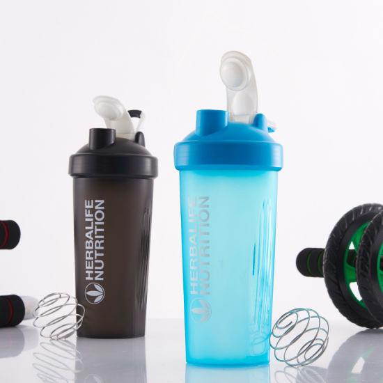400ml BPA-Free Plastic Protein Blander Shaker Bottle with Handle