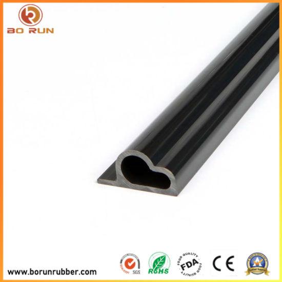 Black Plastic T-Slot Extrusion Aluminium Wholesale Al Profile for Door & Window
