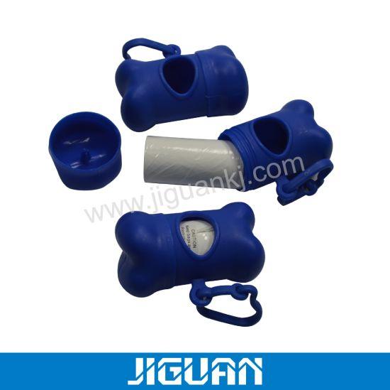 Blue Dispenser of Poop Bag Waste Bag Holder