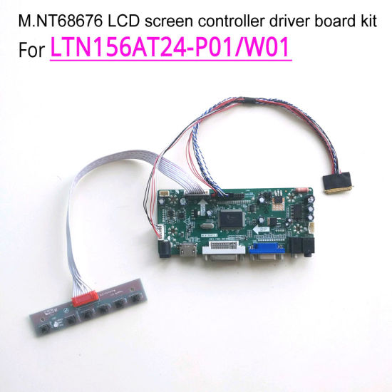 HDMI+DVI+VGA LCD Converter Driver Lvds Controller Kit for LTN156AT24 1366x768
