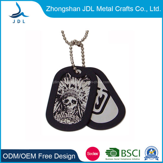 Wholesale Custom Black Bling Dog Tag with Epoxy (005) pictures & photos