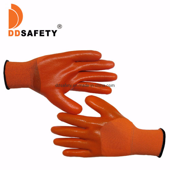 Anti-Slip Nylon Liner PVC Working Safety Glove