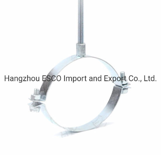 High Duty Metal Electro Galvanized Steel Round Pipe Clamps