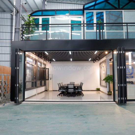 Foshan Factory Fire Proof Powder Coated Aluminum Bifolding Door for Balcony Decoration
