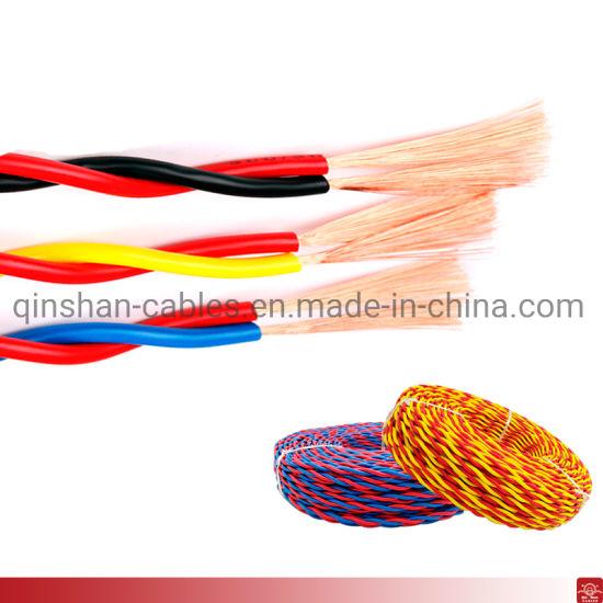 Flexible PVC Insulation CCA Wire 2core Twisted Wire 0.5mm 0.75mm 1.0mm 1.5mm 2.5mm 4.0mm Electric Wire