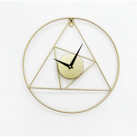 Metal Round Wall Clock 32X32X3.5cm Metal Art Wall Clock, Home Decoration Wall Clock