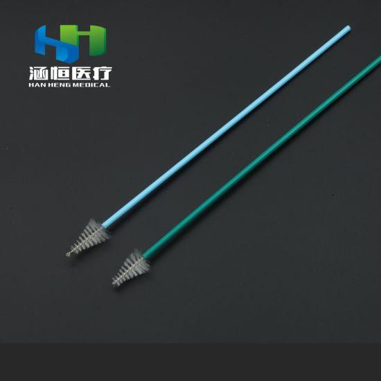 8106-a Disposable Sterile Sampling Brush Medical Cervical Brush Nylon Brush