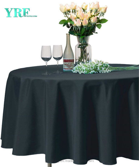 China Round Dinner Tablecloth Dark Grey, What Size Tablecloth Do I Need For A 70 Inch Round Table