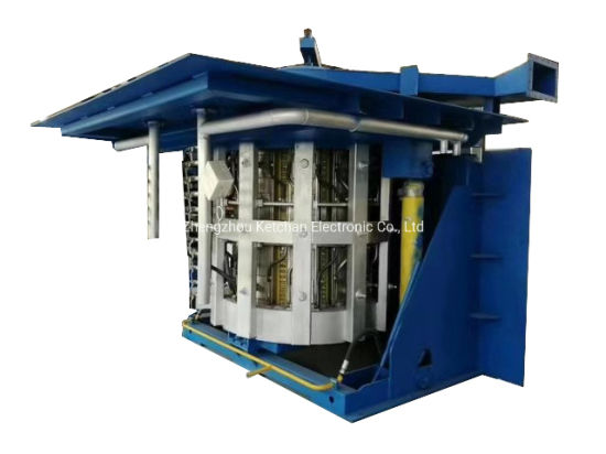 Professional Product 2t Steel Shell Melting Equipment with Induction Power Supply Heater for Metal Melting