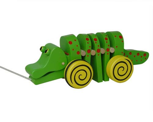 Pull and Push Toys Wooden Crocodile Toys pictures & photos