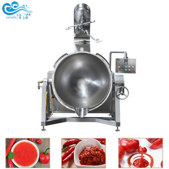 Ce Approved SS304 Gas Electric Cooking Jacketed Kettle Factory for Bean Paste Caramel Sauce Cheap Price