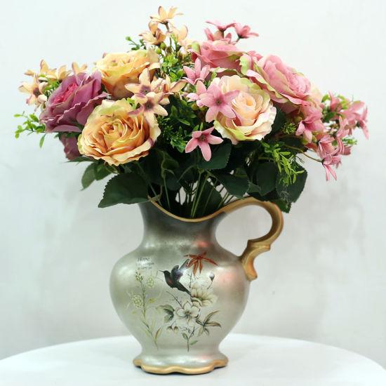 Silk Rose Flower 1 Bouquet 12 Branch Silk Flowers for Home Wedding Decor