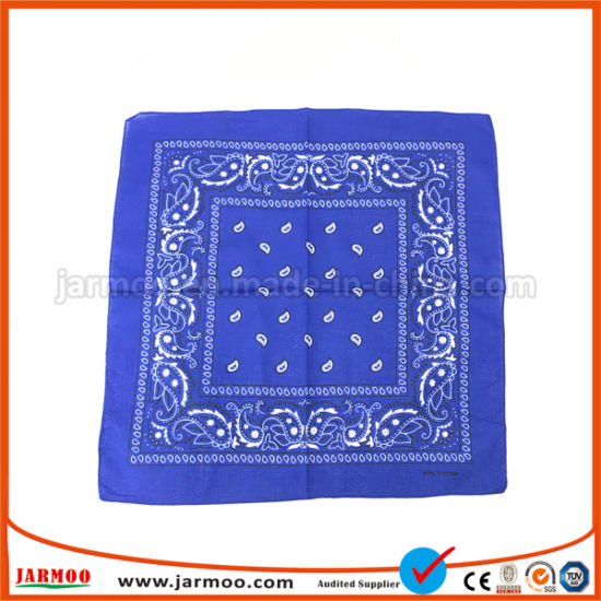 100% Cotton Custom Printing Neck Scarf Wholesale Bandana