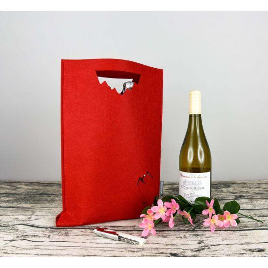 Christmas Felt Red Wine Tote Bag Double Wine Box Custom-Made Champagne Gift Bag