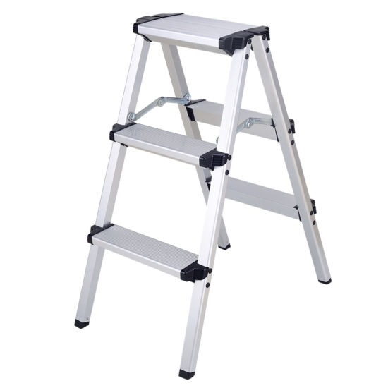 3 Steps Aluminum Saw Horse Ladder with Test Report