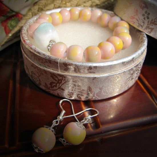 Pure Handmade Jewelry Ceramic Bracelet and Earrings Suit Jewelry