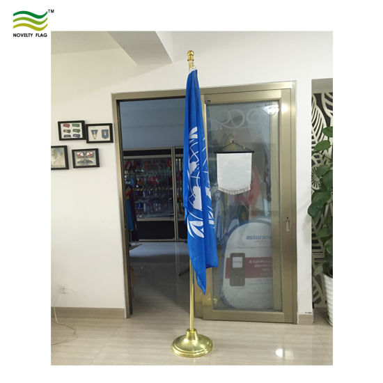 Indoor Office Meeting Room House 8FT Telescopic Aluminum Flag Pole