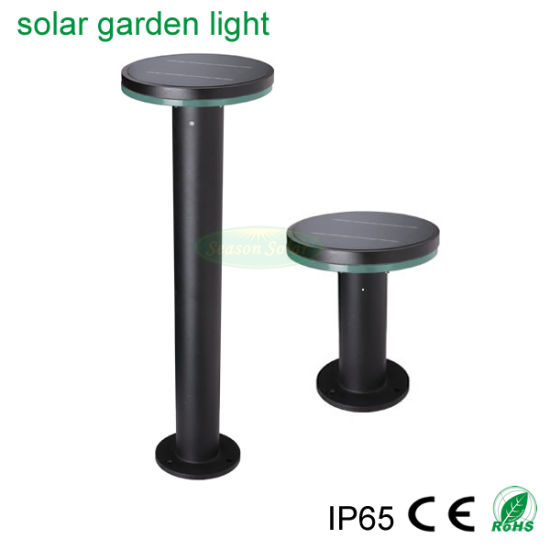 Energy Saving Lighting Lamp Alu. Material Outdoor LED Solar Garden Light with Battery & 5W Solar Panel