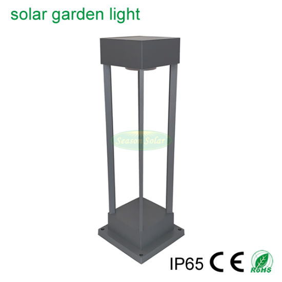 New Square Solar Power Lighting Fixture Pathway Outdoor Solar Garden Light with LED Light