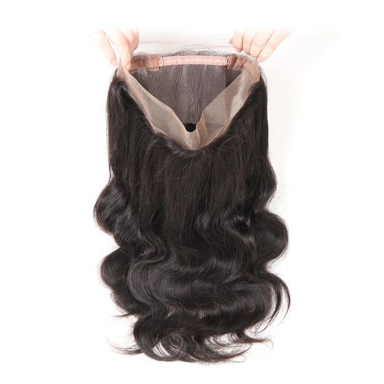 Best Wholesale Remy Indian Brazilian Virgin Human Hair 360 Frontal Lace Closure Body Wave