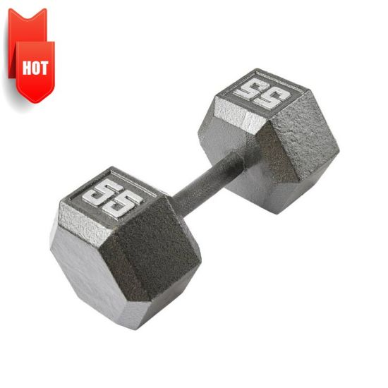 OEM 1.5lbs-45lbs Ductile Gray Cast Iron Black Home Gym Fitness Equipment Dumbbell Weight Plate