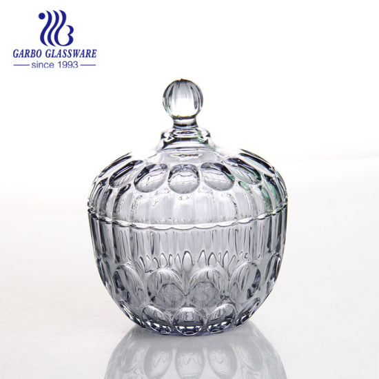 china bubble engraved glass sugar container gb1812yd china glass