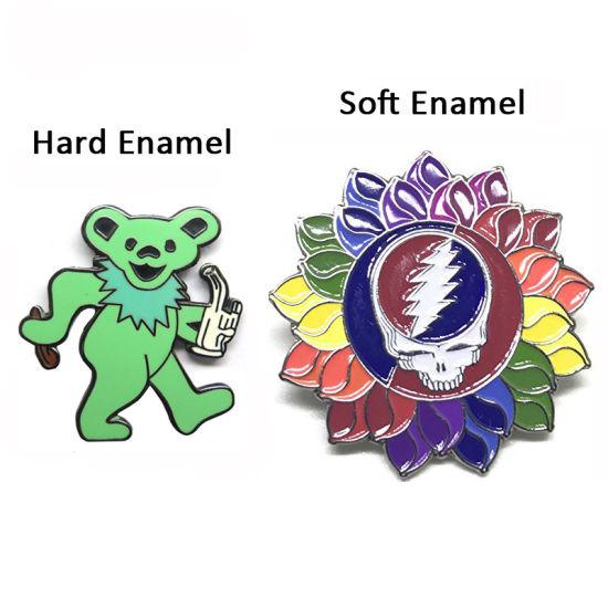 Wholesale Grateful Dead Pins Enamel Lapel Pin Custom Badges Promotional Metal Crafts