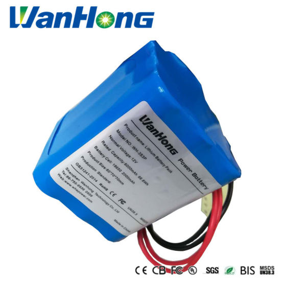 Lithium Battery Pack 18650 12V 6ah Rechargeable Li-ion Lithium Ion Battery Pack Storage Battery for Street Lamp/Household Appliances