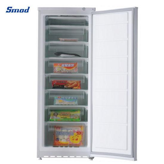 216L Sliding Door Vertical Freezer Ice Cream Deep Upright Freezer