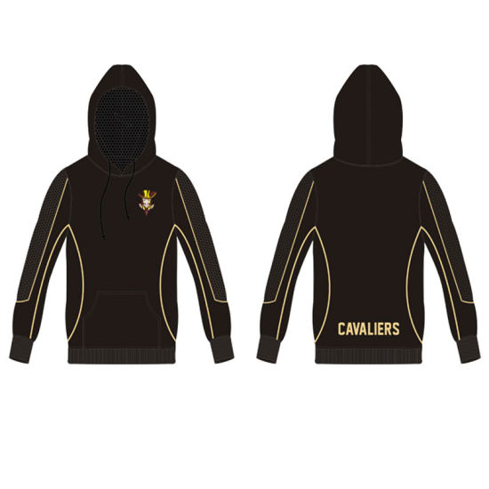Black Sublimated Pullover Hoodie with Custom Logo pictures & photos