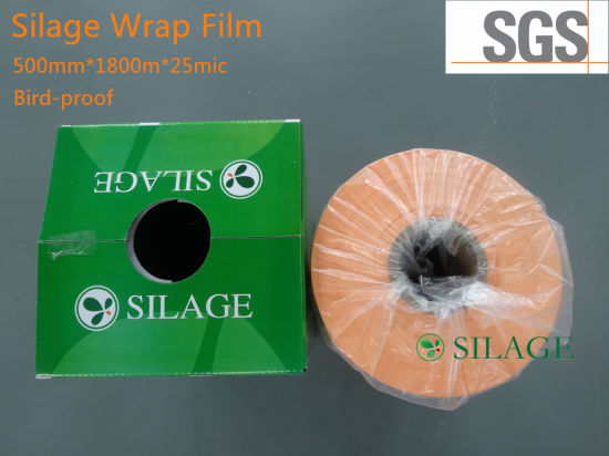 750mm*1500m Blown Orange Silage Film pictures & photos