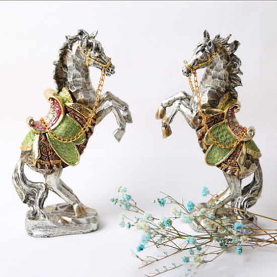 Hot Selling Melody Polyresin Craft Resin Horse Figurine Direct for Garden Decor