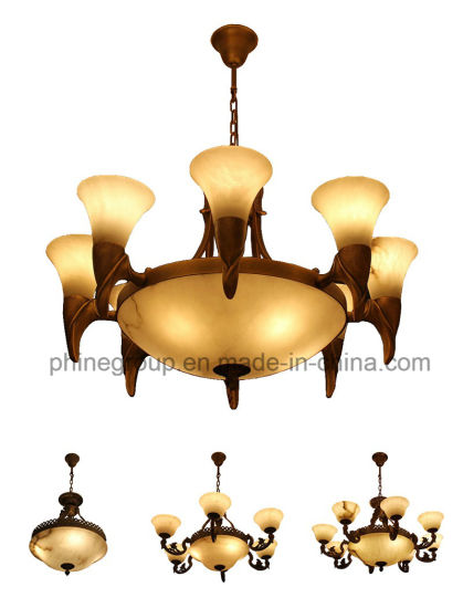 Phine European Interior Decoration Lighting Made of Spanish Marble Pendant Lamp pictures & photos