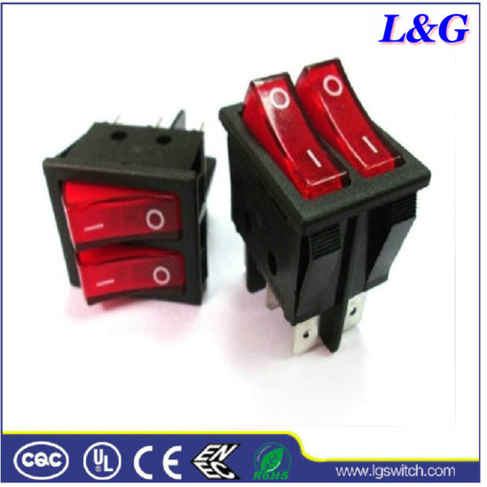 Electrical 250V16A T125 Illuminated Rocker Switch Used in Oven