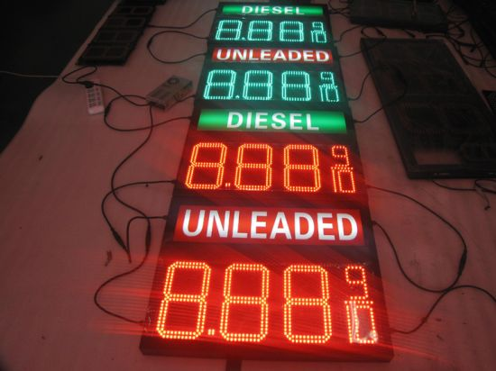 Precise RF Control 16inch LED Gas Price Sign Display for Advertisement