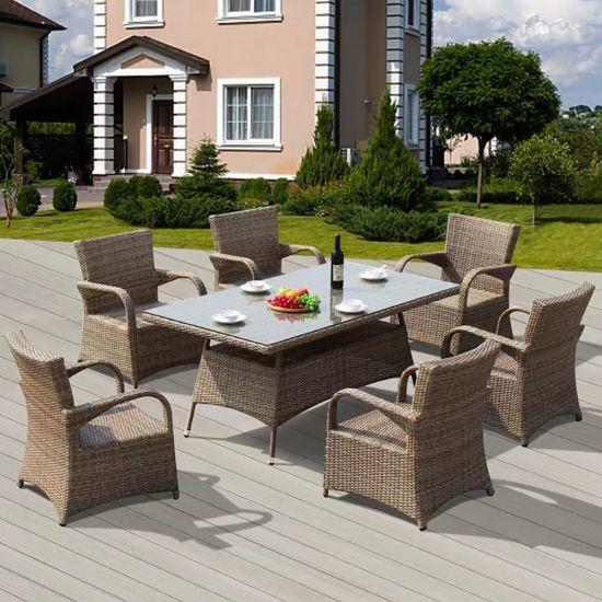 Garden Wicker Patio Aluminum Steel Frame Outdoor Furniture Rattan Chair