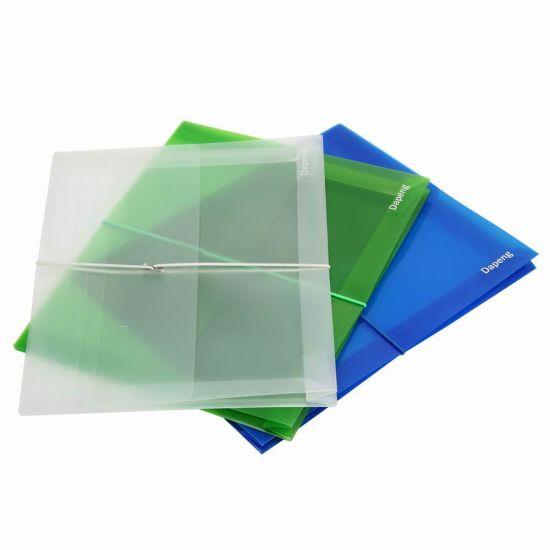 Transparent File Bag with Elastic Strap (F-A030)