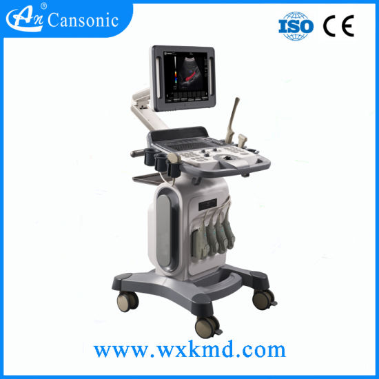 Hot Sale Trolley Color Doppler Ultrasound Machine pictures & photos