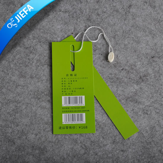 China Directly Factory Customized Paper Garment Hang Tag pictures & photos