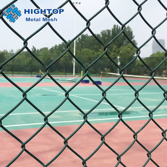 Diamond Green PVC Coated Chain Link Fence for Playground pictures & photos