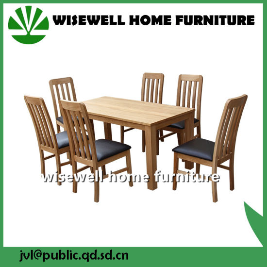 Dining Room Wood Dining Set in Solid Oak Including Rectangle Table and Chairs pictures & photos