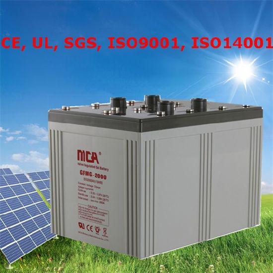 Good Quality Gel Battery for Inverter Solar Gel Battery 2V Gel Battery 2000ah